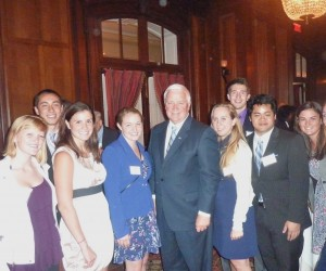 "PBP's Summer Interns pose with PA Governor Tom Corbett at the Union League during the ""Good Scout"" Event"