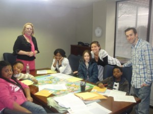 PBP Mentors with their Cook Wissahickon Mentees taking part in Junior Achievement's financial literacy program.